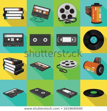 видео кассету изолированный белый фильма Сток-фото © kitch