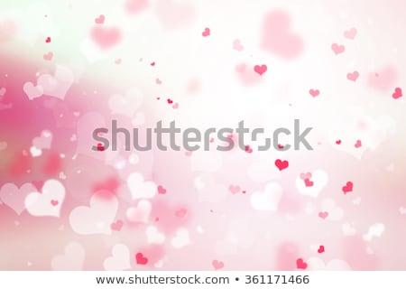 rosso · cuore · rosa · raggi · stelle · in · giro - foto d'archivio © enlife