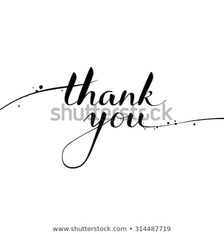 Hand with pen writing Thank you Stock photo © Zerbor