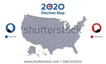 doğru · oy · soyut · siyaset · muhafazakâr · seçim - stok fotoğraf © lightsource