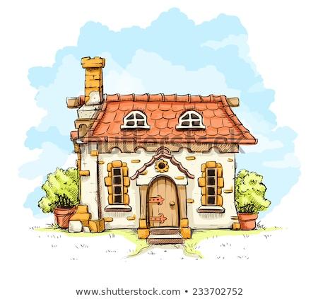 Дом с черепицей рисунки