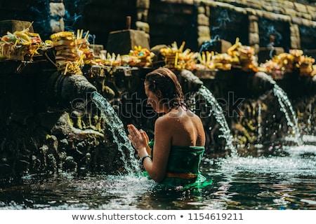 Tapınak su havuz bali Endonezya Stok fotoğraf © dinozzaver