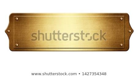 Golden Plaque metallic Textur Design Metall Stock foto © mtmmarek