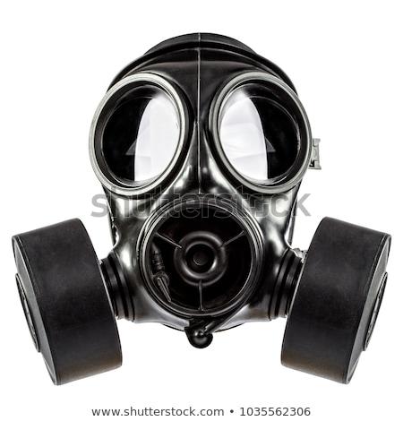 Gaz maskesi yalıtılmış beyaz yüz dünya maske Stok fotoğraf © papa1266