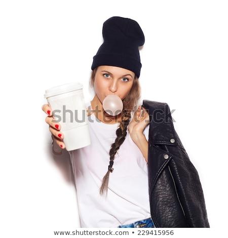 młoda · kobieta · piękna · dziewczyna · żywności - zdjęcia stock © nyul