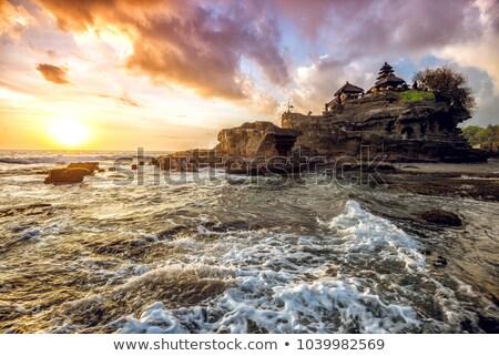 templom · naplemente · Bali · sziget · Indonézia · égbolt - stock fotó © meinzahn