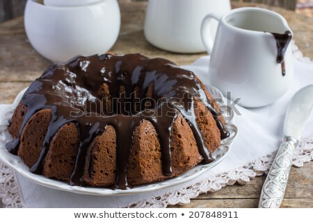 Koffie pure chocola cake voedsel chocolade Stockfoto © Photooiasson