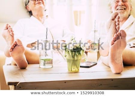 mature woman foot stock photo © illustrart