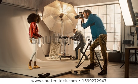 Backstage picture of a photoshoot Stock photo © DNF-Style