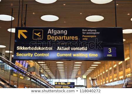 airport signs in copenhagen stock photo © jeancliclac