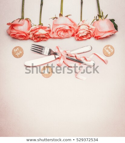 Photo stock: Rose · roses · frontière · image · illustration