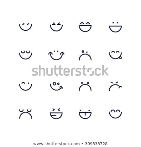 ingesteld · kleurrijk · illustratie · computer · gezicht - stockfoto © cienpies
