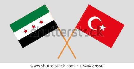 bandiera · Siria · illustrazione · star · rosso - foto d'archivio © istanbul2009