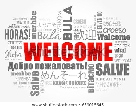 Welcome cloud Stock photo © fuzzbones0