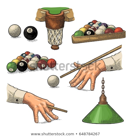 Billiard ball icon drawn in chalk. Stock photo © RAStudio
