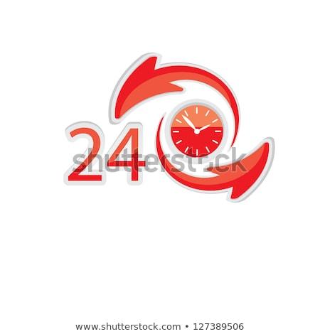 24 nyitva arany vektor ikon terv Stock fotó © rizwanali3d