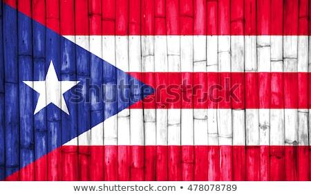 Turquia Porto Rico bandeiras quebra-cabeça isolado branco Foto stock © Istanbul2009