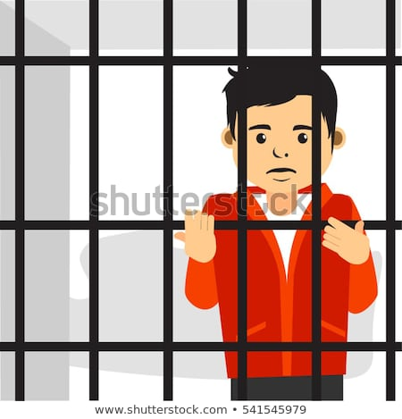 cartoon guy in jail Stock photo © drizzd