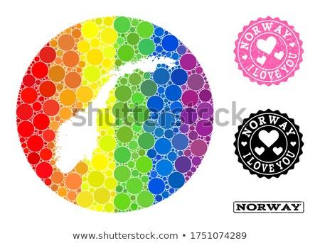 Noorwegen homo kaart land trots vlag Stockfoto © tony4urban