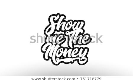 Stock fotó: Szó · pénz · fehér · izolált · elöl · kilátás