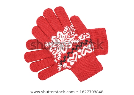 Knitted woolen glove, isolated on white Stock photo © shutswis
