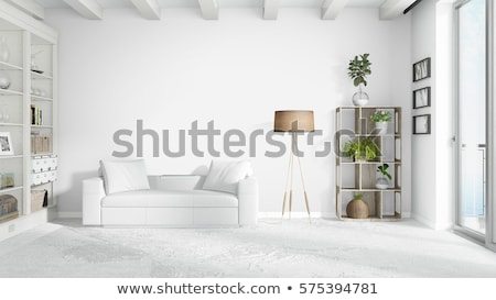 beautiful living room with wooden floor stock photo © jrstock