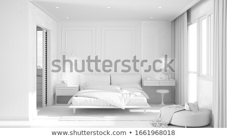 Luxurious white bedroom Stock photo © jrstock