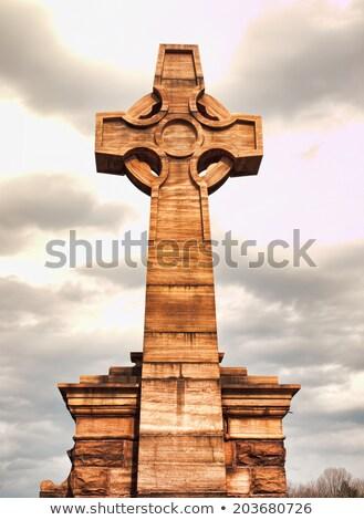 Wooden Celtic Cross Stock photo © Bigalbaloo
