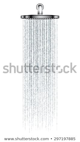Zuhany izolált víz háttér fej fürdőkád Stock fotó © shutswis
