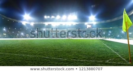 Köşe futbol sahası çim spor futbol alan Stok fotoğraf © ssuaphoto