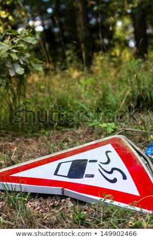 Imzalamak yol zarar mavi gökyüzü gökyüzü sokak Stok fotoğraf © meinzahn