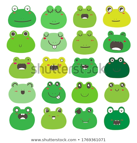Frog emotion Icon Illustration sign design Stock photo © kiddaikiddee