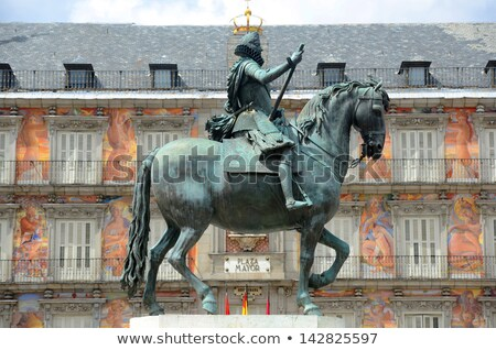 Felipe III statue in Major Square, Madrid. Spain Stock photo © Photooiasson