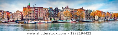 Amsterdam Países Bajos detalles hermosa casa edificio Foto stock © vladacanon