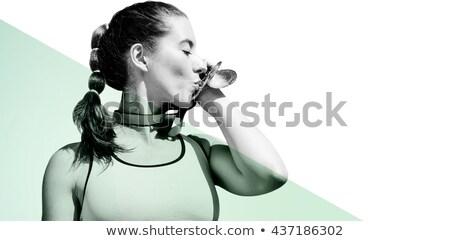 drei · Medaillen · isoliert · weiß · Business · Sport - stock foto © wavebreak_media