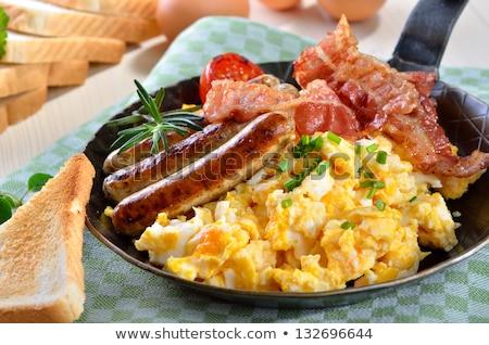 detay · füme · domuz · pastırması · akşam · yemeği · yağ · pişirme - stok fotoğraf © digifoodstock