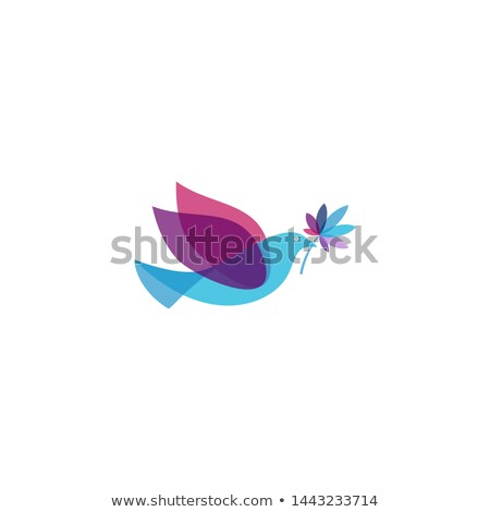 cannabis leaf silhouette peaceful dove symbol design Stock photo © Zuzuan