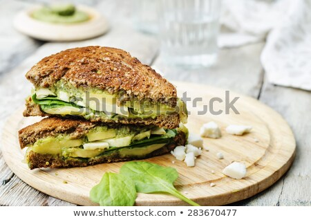 Appetizing grilled panini bread cheese sandwich Stock photo © ozgur