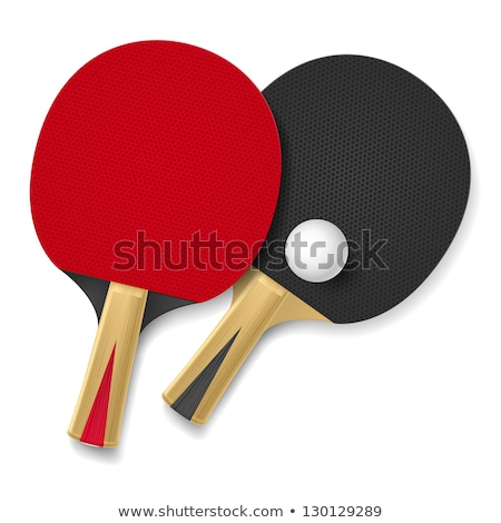 Table tennis icon on red background Stock photo © bluering