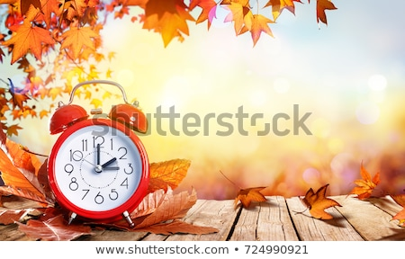 Time to change on wooden table Stock photo © fuzzbones0