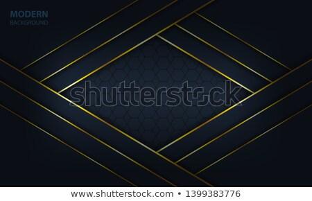 dark blue overlap layer paper material design stock photo © punsayaporn