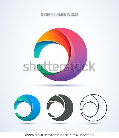 soyut · güneş · daire · logo · vektör · basit - stok fotoğraf © krustovin