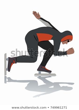 skate · schets · icon · vector · geïsoleerd - stockfoto © rastudio