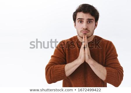 anziehend · jungen · Mann · Hände · zusammen - stock foto © feedough