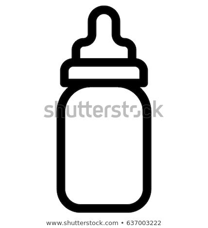 bebekler · bebek · şişe · örnek · çocuk · mavi - stok fotoğraf © angelp