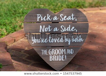 A wooden welcome signage Stock photo © bluering