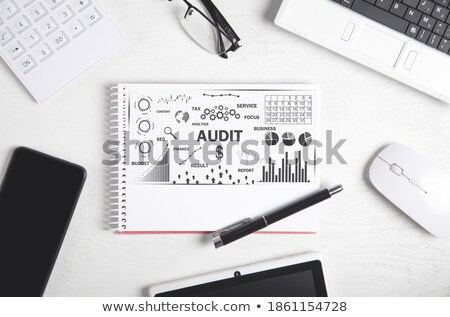 Stock photo: Audit word on notepad