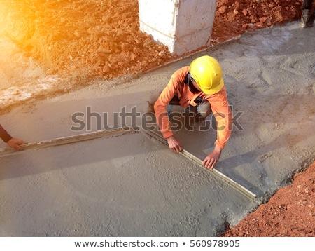 Trabalhando cimento estuque casa jardim ferramenta Foto stock © zurijeta