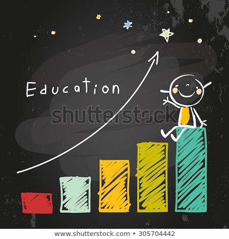 Ninos gráfico de barras ilustración feliz nino fondo Foto stock © bluering