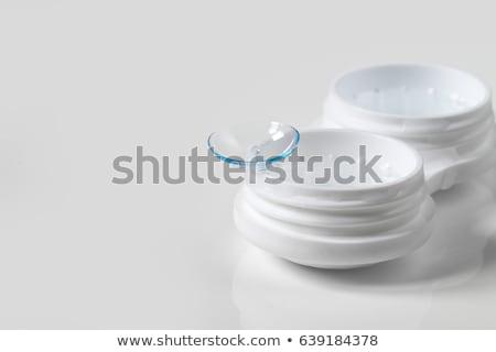Szkło kontaktowe przypadku odizolowany biały oka medycznych Zdjęcia stock © coprid